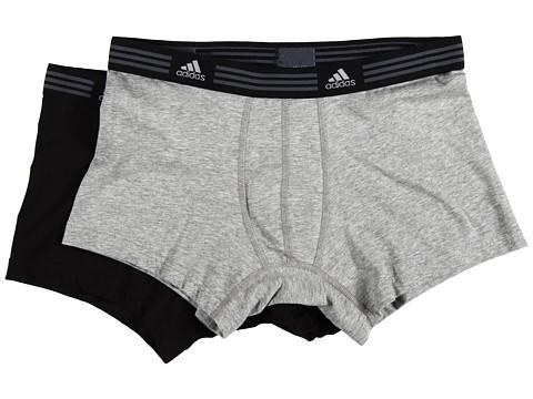adidas - Athletic Stretch 2-Pack Trunk (Heather Grey/Black) Men