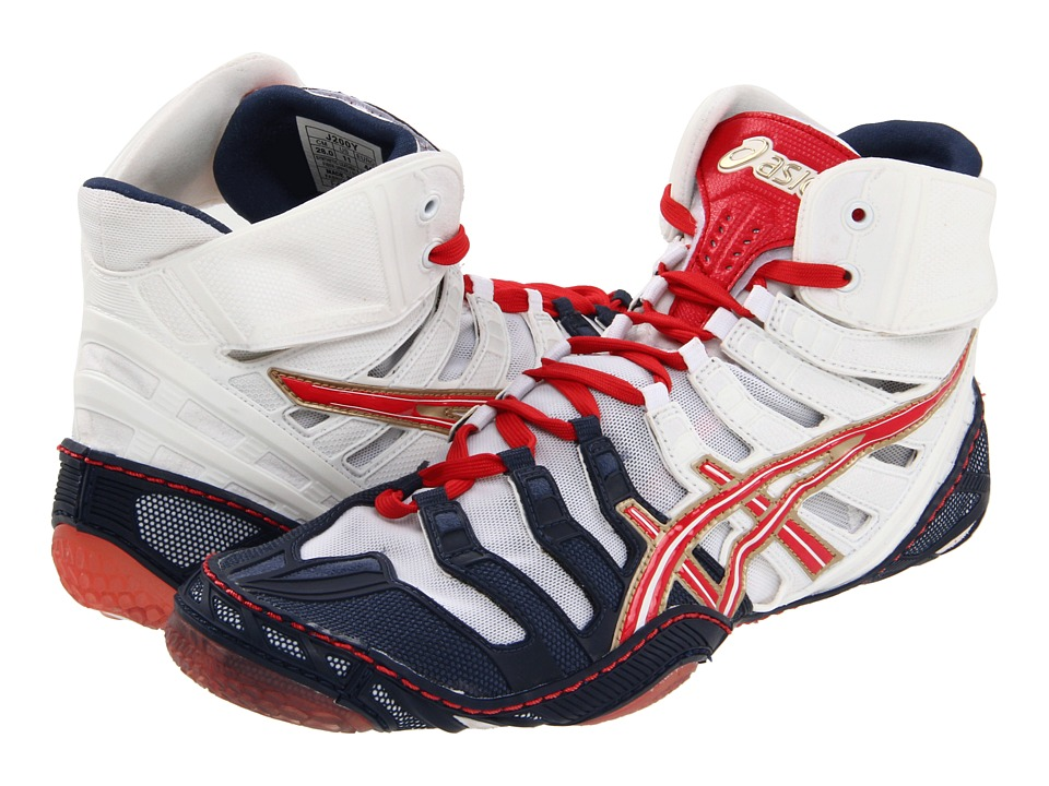 ASICS - Omniflex Pursuit (Navy/White/Red) Men's Shoes