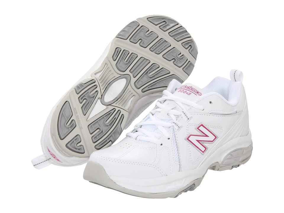 New Balance - WX608v3 (White/Pink) Women
