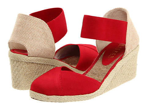 LAUREN by Ralph Lauren Charla (Red Elastic) Women's Wedge Shoes