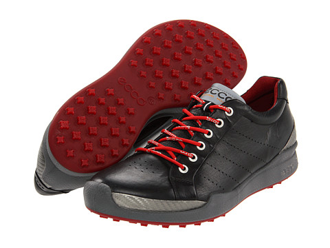 ECCO Golf - Biom Golf Hybrid (Black/Brick) Men's Golf Shoes