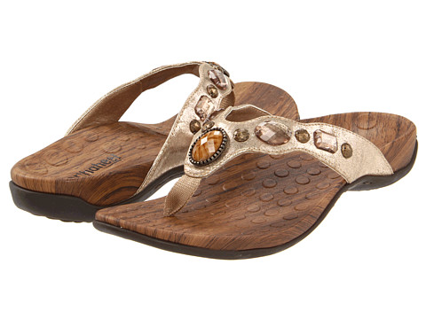 VIONIC with Orthaheel Technology - Carla (Gold Metallic) Women's Sandals
