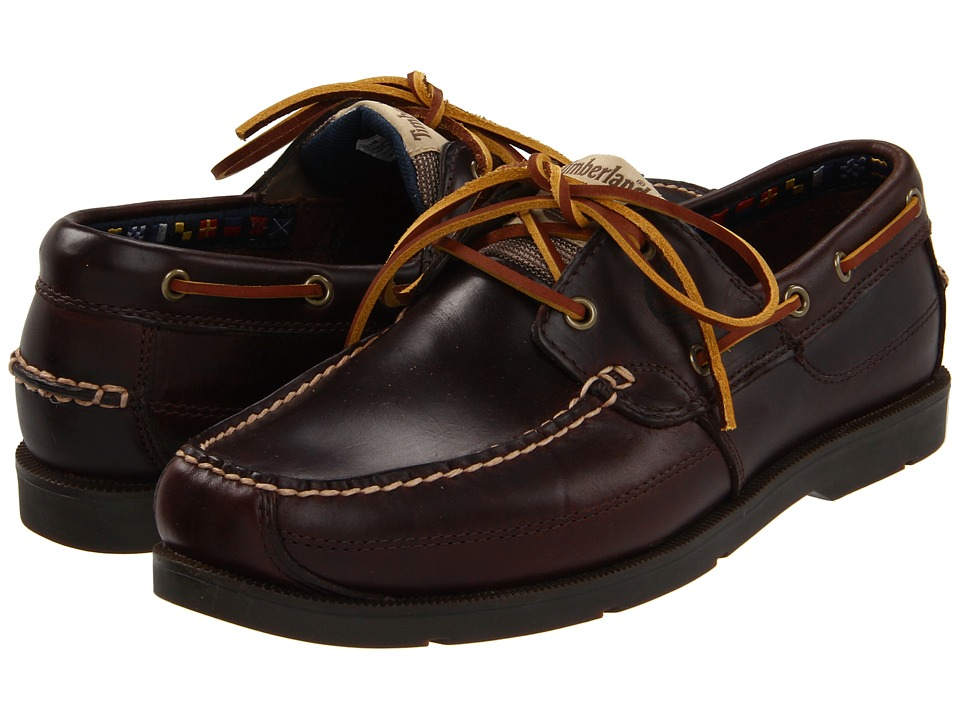 Timberland - Earthkeepers Kia Wah Bay 2-Eye Boat (Brown Pull-Up) Men's Lace up casual Shoes