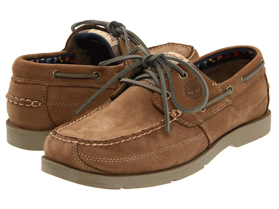 Timberland - Earthkeepers Kia Wah Bay 2-Eye Boat (Taupe Nubuck) Men's Lace up casual Shoes