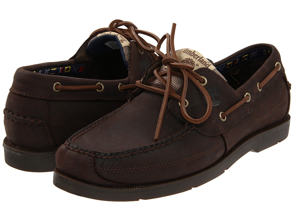 Timberland - Earthkeepers Kia Wah Bay 2-Eye Boat (Chocolate) Men's Lace up casual Shoes