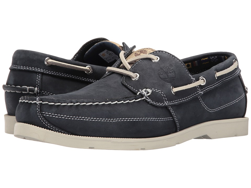 Timberland - Earthkeepers Kia Wah Bay 2-Eye Boat (Navy Nubuck) Men's Lace up casual Shoes