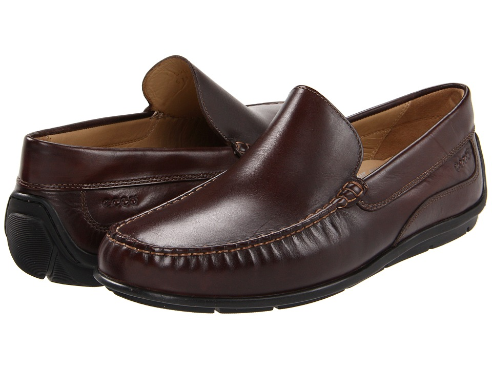 ECCO - Classic Moc (Coffee Antic Calf) Men's Slip on Shoes