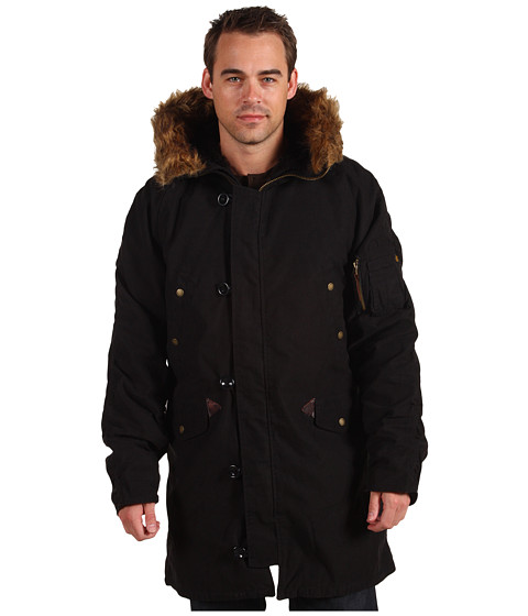 Alpha Industries - Slim Fit N-3B Snorkel (Black) Men's Coat