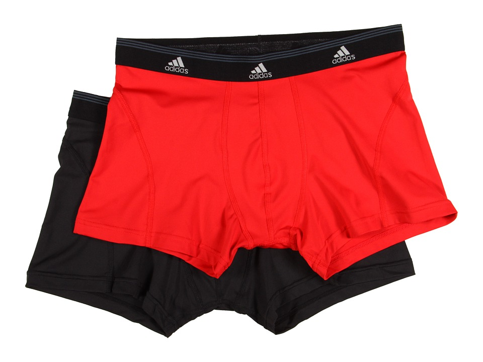 adidas - Sport Performance ClimaLite 2-Pack Trunk (Real Red/Black) Men's Underwear