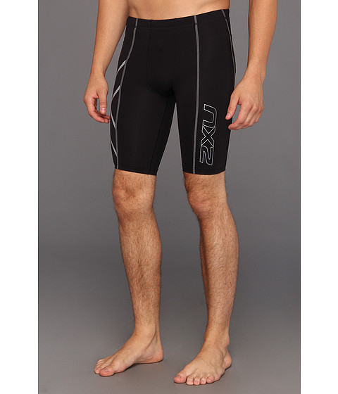 2XU - Compression Short (Black/Black) Men's Shorts