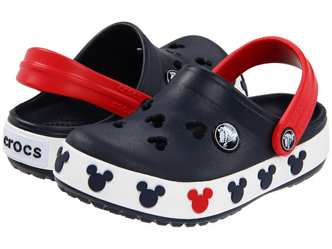 Crocs Kids - Crocband Mickey II (Toddler/Little Kid) (Navy/Red) Kids Shoes