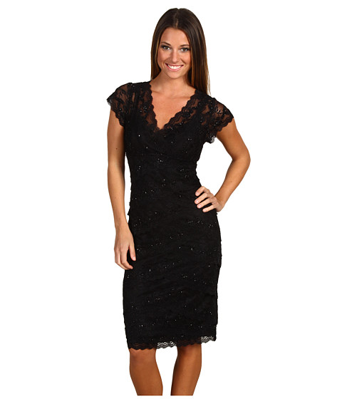 rsvp - Cassandra Lace Dress (Black/Black) Women