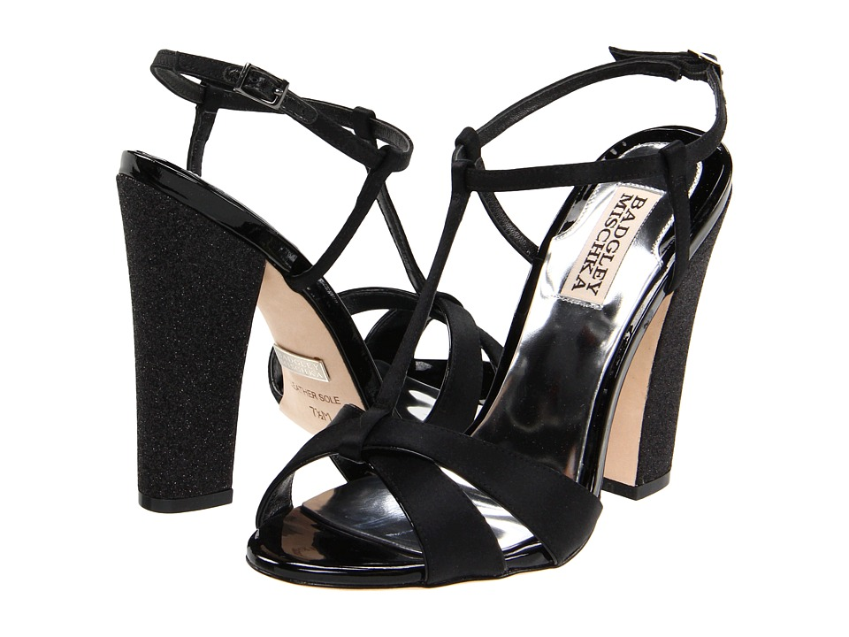 Badgley Mischka - Jenie (Black Satin/Patent) Women