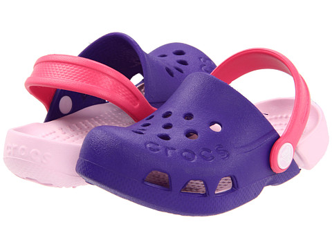 Crocs Kids - Electro (Toddler/Little Kid) (Ultraviolet/Bubblegum) Girls Shoes