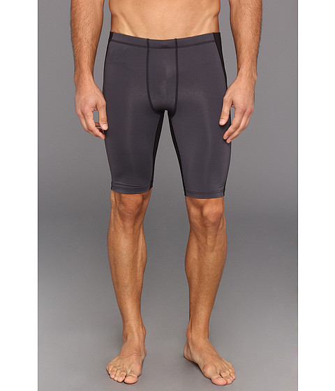 2XU - Elite Compression Short (Black/Steel) Men