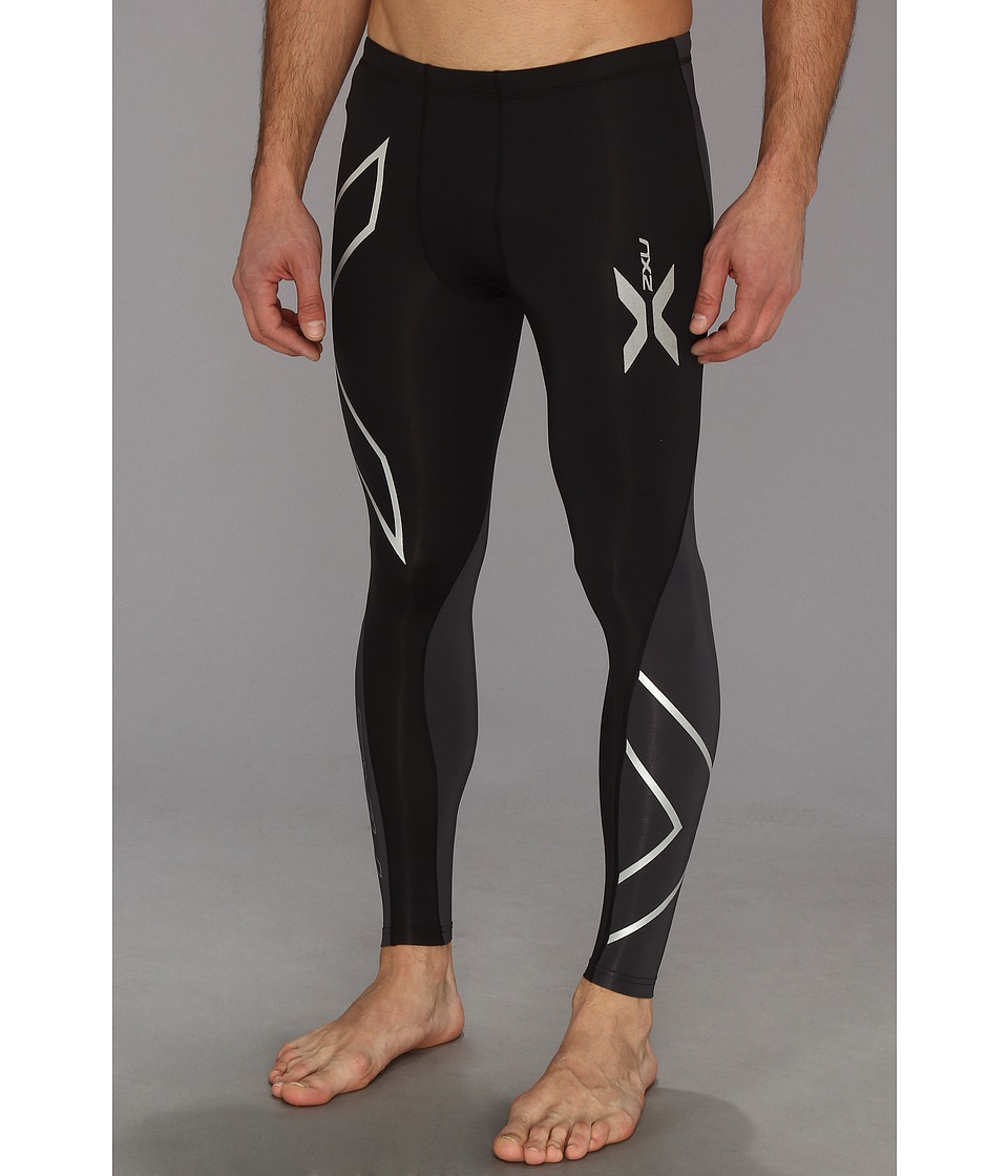 2XU - Elite Compression Tight (Black/Steel) Men's Workout