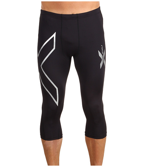 2XU - Compression 3/4 Tight (Black/Black) Men's Workout