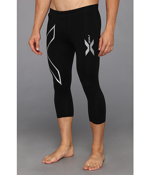 2XU - Thermal Compression 3/4 Tights (Black/Black) Men