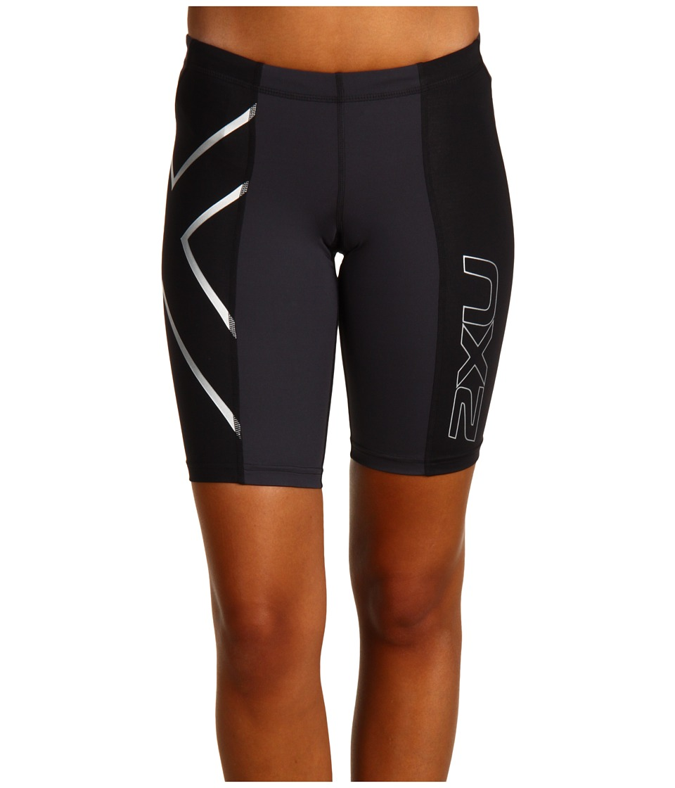 2XU - Elite Compression Short (Black/Steel) Women's Shorts