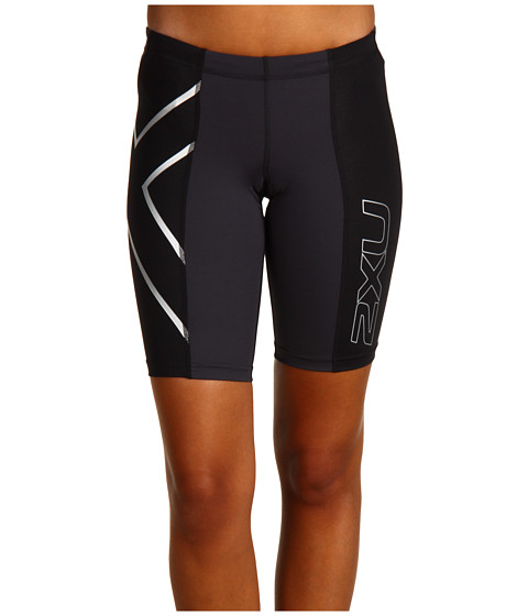 09c4efd2 EAN 9336340005049 product image for 2XU Elite Compression Short (Black/Steel)  Women's Shorts ...