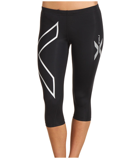 2XU - Compression 3/4 Tight (Black/Black) Women's Workout