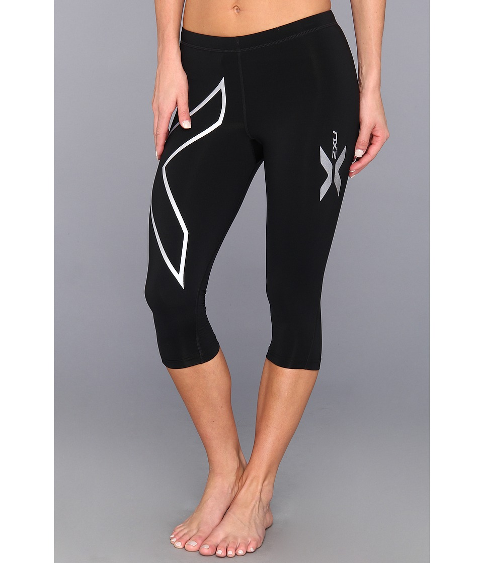 2XU - Thermal 3/4 Compression Tights (Black/Black) Women's Workout