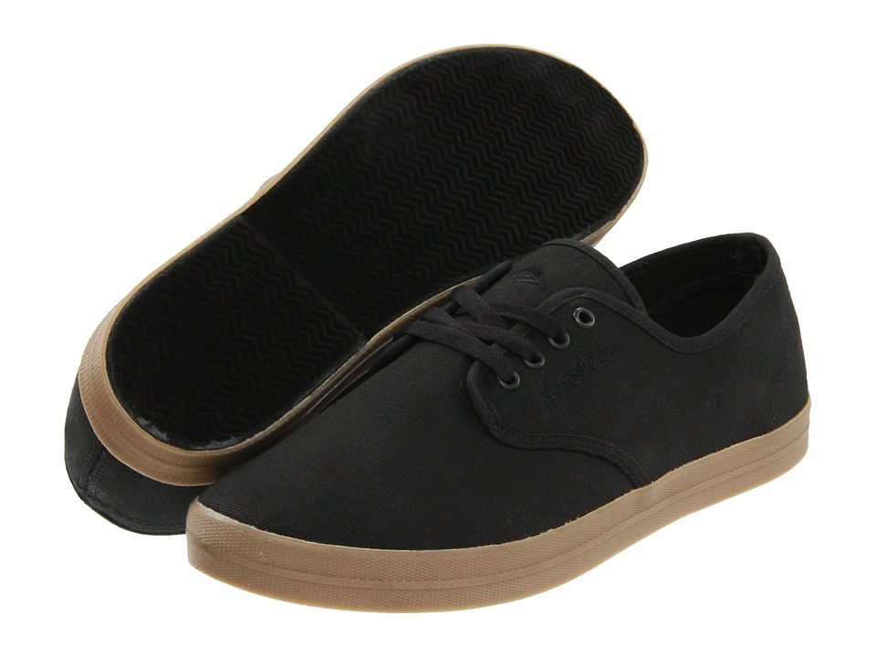 Emerica - The Wino (Black/Gum (Canvas)) Men's Skate Shoes