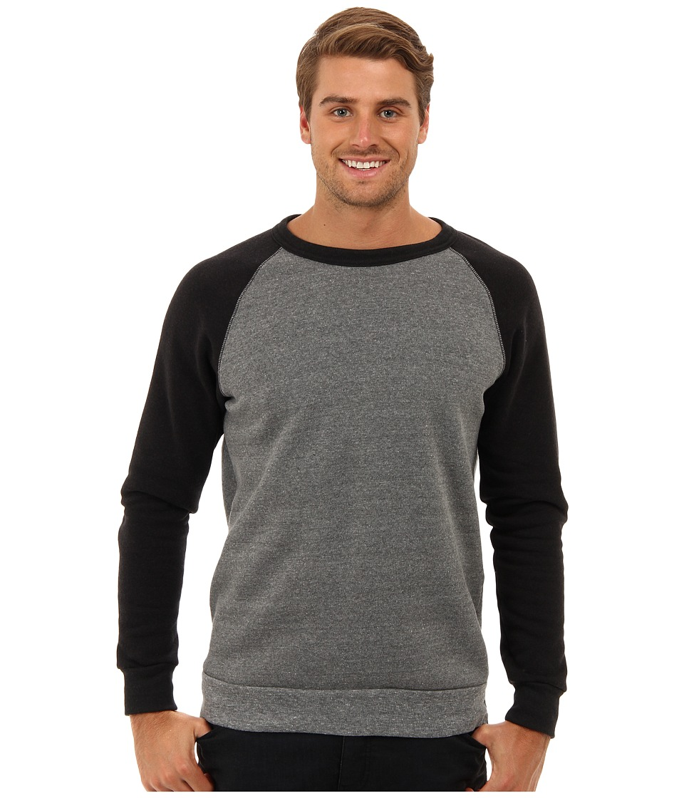 Alternative - Colorblock Champ (Eco Grey/True Black) Men's Long Sleeve Pullover