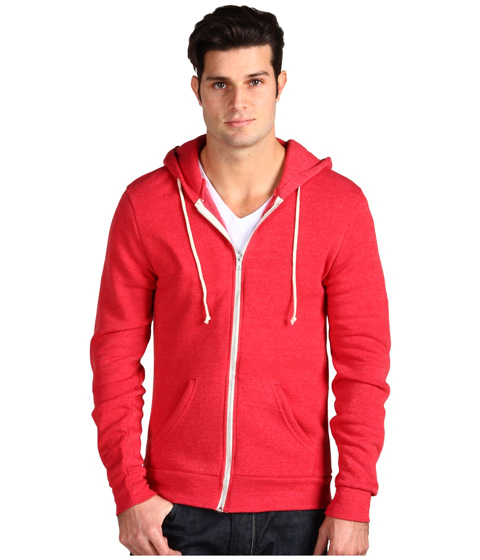 Alternative - Rocky Zip Hoodie (Eco True Red) Men's Sweatshirt
