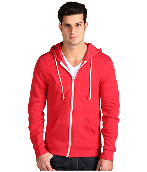Alternative - Rocky Zip Hoodie (Eco True Red) Men