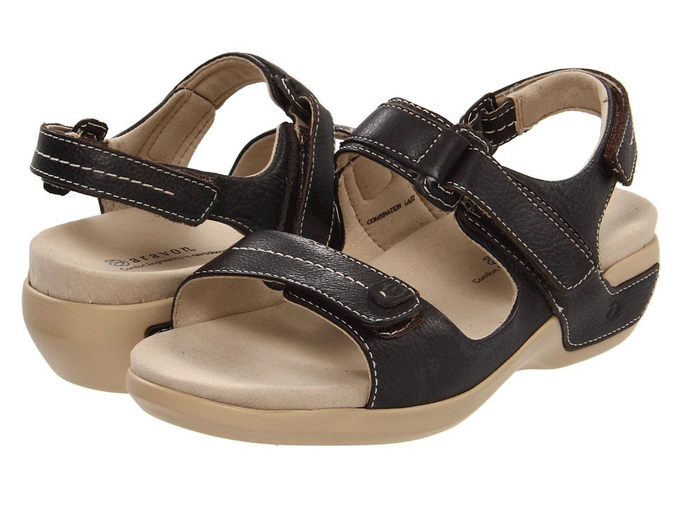 Aravon - Katy (Dark Brown Leather) Women's Sandals