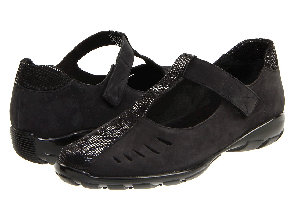 Vaneli - Airy (Black Nabuk) Women's Flat Shoes