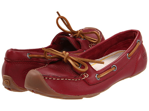 Keen Catalina Boat Shoe (Biking Red) Women's Slip on  Shoes