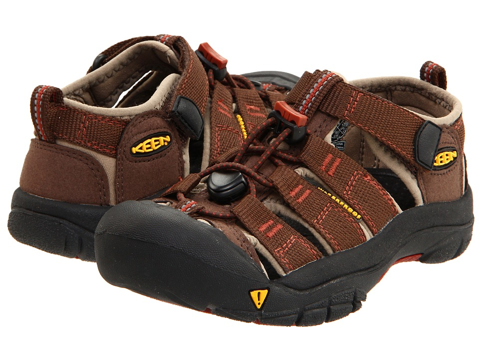 Keen Kids - Newport H2 (Toddler/Little Kid) (Slate Black/Burnt Henna) Boys Shoes