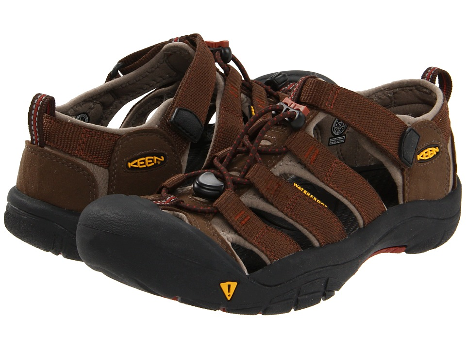 Keen Kids - Newport H2 (Little Kid/Big Kid) (Slate Black/Burnt Henna) Kids Shoes