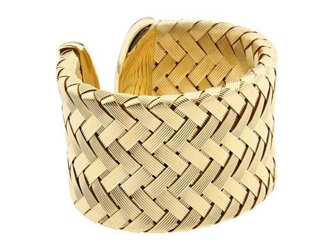 Roberto Coin - Weaved Cuff Bangle (Yellow) Bracelet