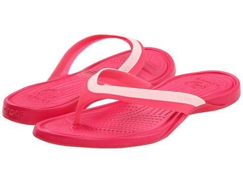 Crocs - Adrina Flip (Hot Pink/Raspberry) Women's Sandals