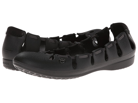 Crocs - Springi Flat (Black/Graphite) Women's Shoes