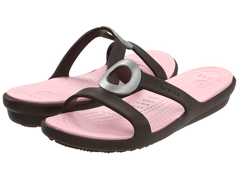Crocs - Sanrah (Espresso/Petal Pink) Women's Shoes