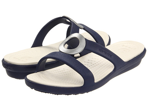 Crocs - Sanrah (Nautical Navy/Stucco) Women's Shoes
