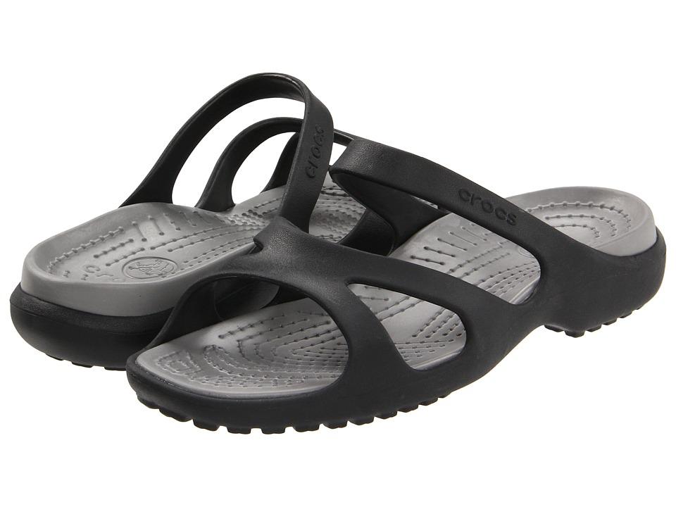 Crocs - Meleen (Black/Smoke) Women's Shoes