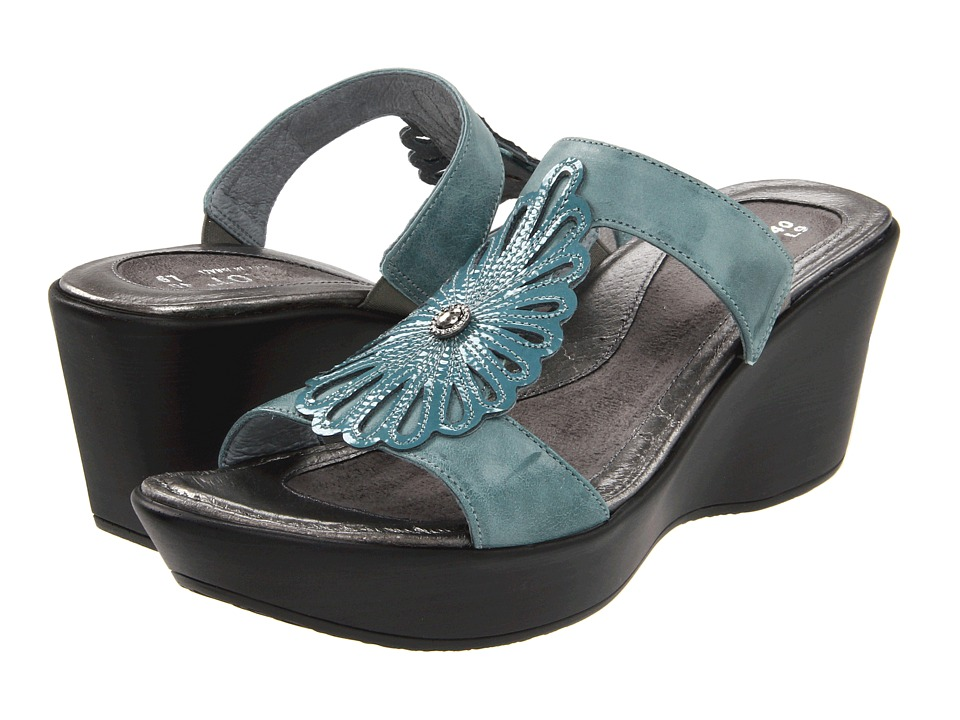 Naot Footwear - Fancy (Aqua Leather/Teal Patent) Women