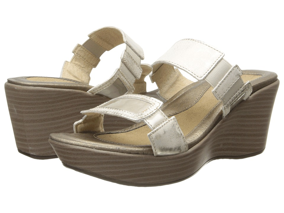 Naot Footwear - Treasure (Dusty Silver Leather/Pearl Patent Leather) Women