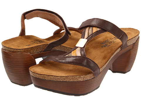 Naot Footwear - Fusion (Mother Earth Leather/Biscuit Leather/Grecian Gold Leather/Bamboo) Women