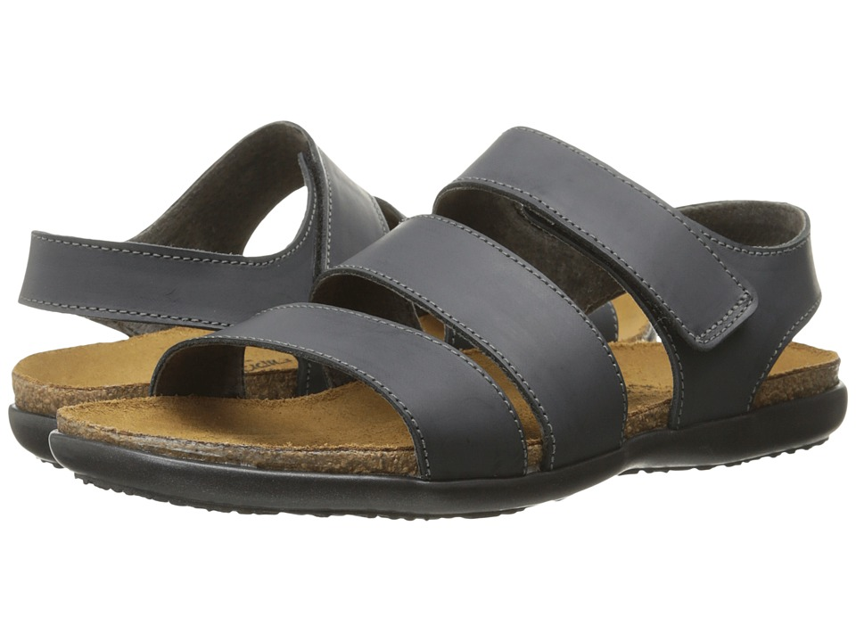 Naot Footwear - Laura (Brushed Black Leather) Women's Sandals