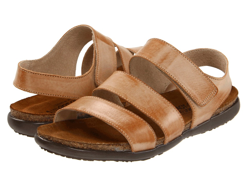 Naot Footwear - Laura (Biscuit Leather) Women's Sandals
