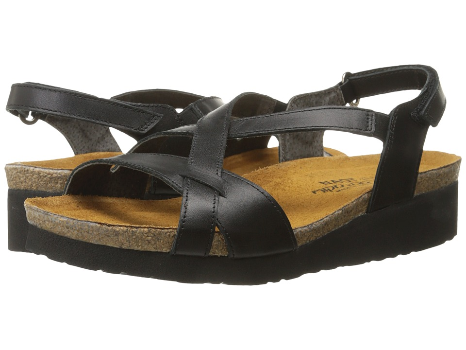 Naot Footwear - Bernice (Black Raven Leather) Women's Sandals