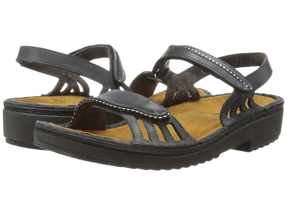 Naot Footwear - Anika (Brushed Black Leather) Women's Sandals