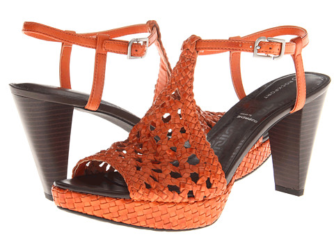Rockport - Audry Quarter Strap Woven (Dark Orange/Dark Orange/Graphite) Women