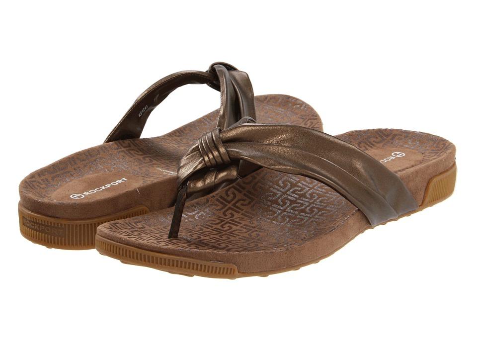 Rockport - Jada Tubular Thong (Bronze) Women's Sandals
